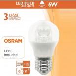 [Ibérica de Iluminación]Bombilla LED con Lente 6W E27 G45 220º - OSRAM CHIP DURIS E 2835