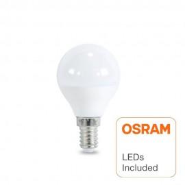 [Ibérica de Iluminación]Bombilla LED 6W E14 G45 220º - OSRAM CHIP DURIS E 2835
