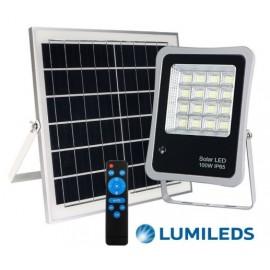 [Ibérica de Iluminación]Foco Proyector Exterior SOLAR LED 100W AVANT