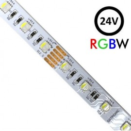 [Ibérica de Iluminación]Tira LED 24V RGBW | 60xLED/m | 5m | SMD5050 | 560Lm | 13W/M | IP20