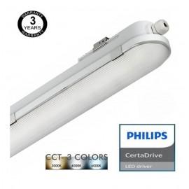 [Ibérica de Iluminación]Regleta Estanca LED 20W Philips Driver COREPLUS - CCT - 60cm