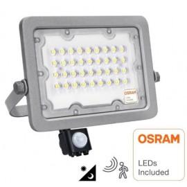 [Ibérica de Iluminación]Foco Proyector LED 30W AVANT OSRAM CHIP DURIS E 2835 - Sensor Movimiento PIR