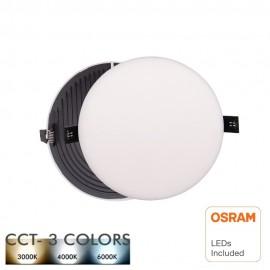 [Ibérica de Iluminación]Downlight LED 12W Frameless QUASAR - OSRAM CHIP DURIS E 2835 - CCT