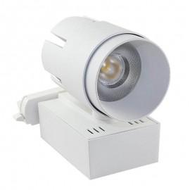 [Ibérica de Iluminación]Foco LED 35W LARA Blanco para Carril Monofásico 24º